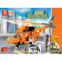 Sluban City Series Emergency Rescue Helicopter 3D Construction Plastic Model Building Blocks Bricks