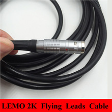 LEMO connector FGG Male Plug 2K 2 3 4 5 6 7 8 10 12 14 16 18 19 Pin Waterproof IP68  Plug Cable Length 1 m Flying Leads Cable