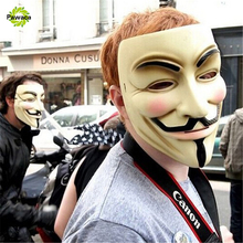 1pcs New Vendetta Fawkes Face Masks Anonymous Horrible on Cosplay Halloween Costume Accessory Anonymous Guy Cosplay Mask(China)