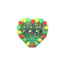 1Pce PCB Board 48MM * 51MM Cycle Lamp Suite LED Electronic Production DIY Kits Heart Shaped 3V - 5V