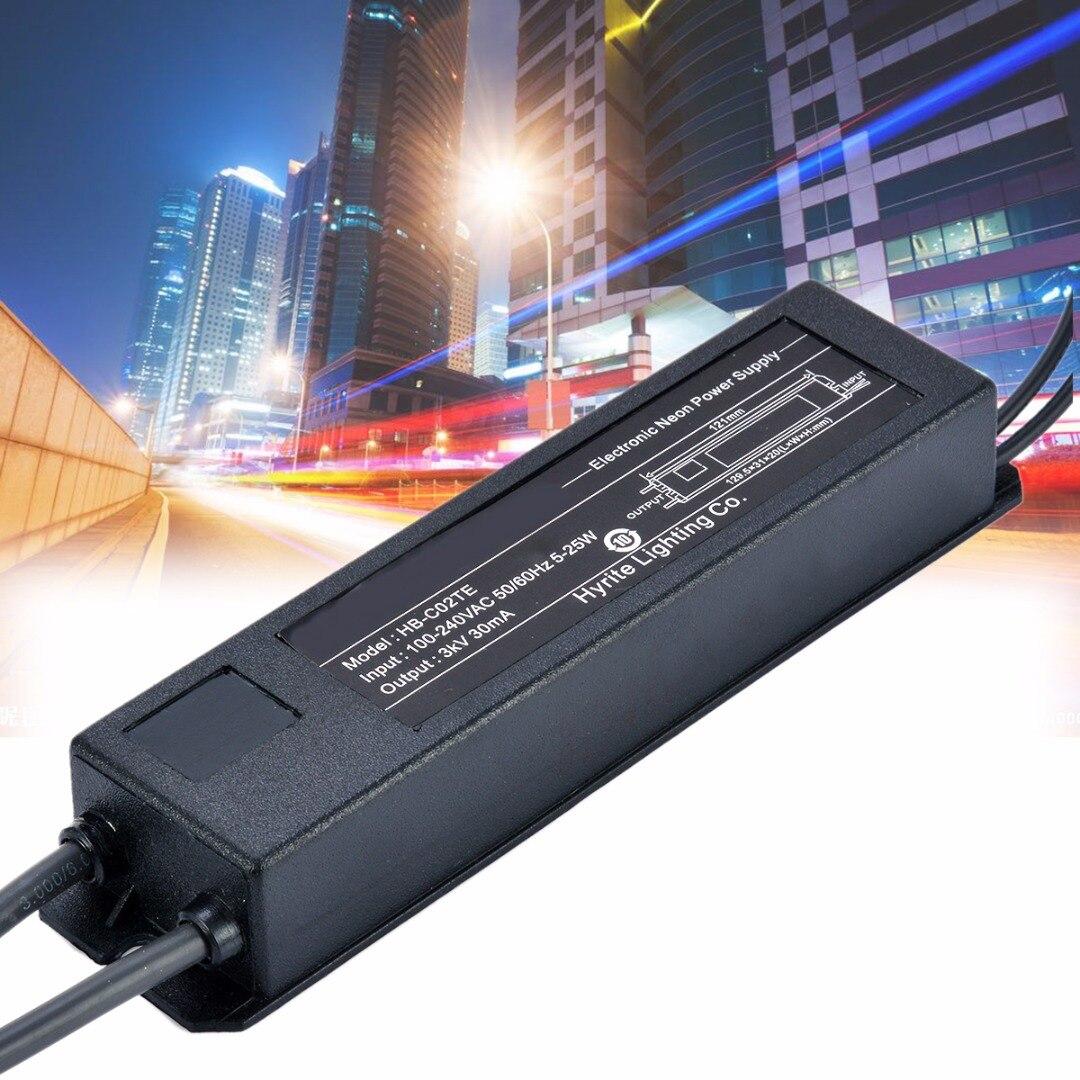 Brand New 3KV 30MA 5-25W Neon Sign Transformer Electronic Power Supply HB-C02TE