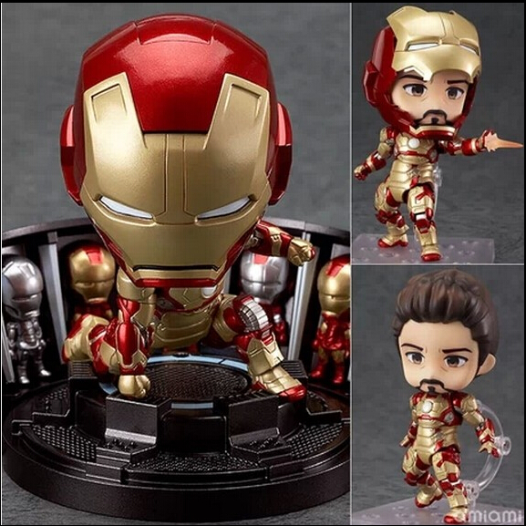 Super Hero Iron Man 3 Mark 42 Tony Stark Set Cute Nendoroid 4 PVC Action Figure Collection Model Toy #349<br><br>Aliexpress