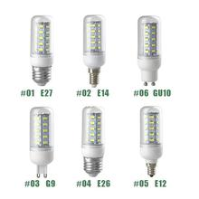 Mabor 110V 5730 E12/ E14/ E26/ E27/ G9/ GU10  Corn LED Bulb Lamp 3W/7W/9W/15W/16W Home Bedroom Bright Light Pure White