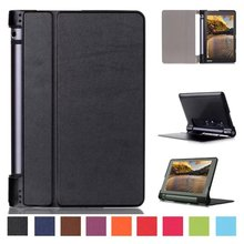 For Lenovo Yoga Tab3 YT3 850 YT3-850F YT3-850M/L Ultra Slim Flip Cover Tablet Custer Folio Stand Leather Case Protective shell