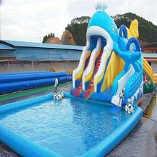 Outdoor Giant Inflatable Swimming Pool With Water Slide for Adults and Kids(China)