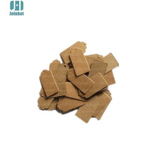 100pcs DIY Square Food Label Wedding Gift cake box Decorating Tag 2*4cm Packaging Label Brown Kraft Paper Tags
