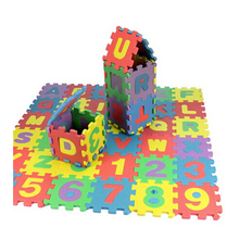 36Pcs Kids Puzzles Toys EVA Foam Mat Alphabet Letters Numbers Puzzle Children Intelligence Development Bath Water Floating Toy(China)