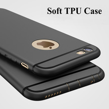 Fashion For Apple iPhone 6 6s Plus Case 0.6mm Slim Soft Silicone TPU Back Cover with Dust Plug For iPhone 6s 6