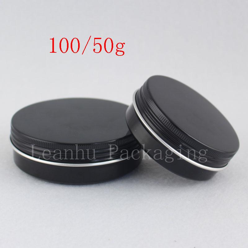 50g 100g black aluminum jar (1)