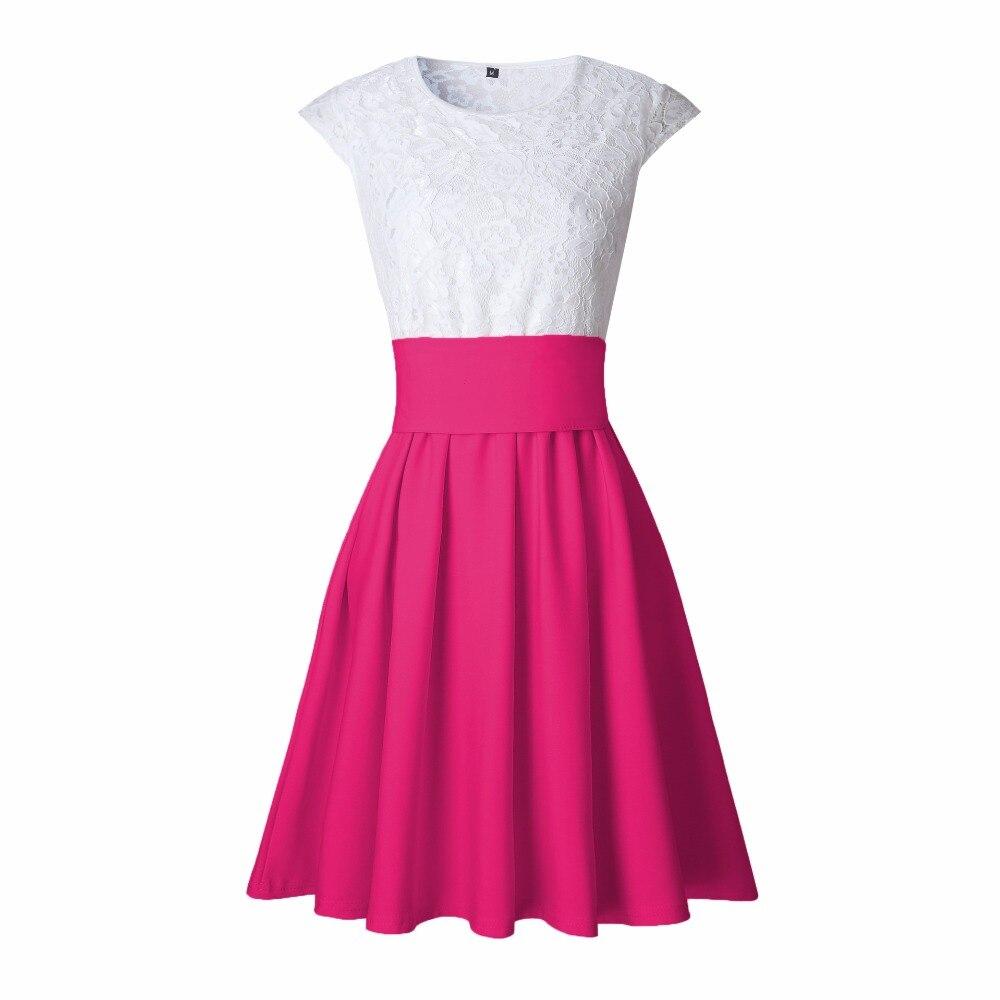 Online Cheap Lace Kawaii Dress Beach Summer Women Cute 2018 Flare ...