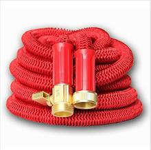 2017 New European American Version Telescoping Aluminum Pressure Red Garden Water Hose Senior high quality 50ft Expanding Hose