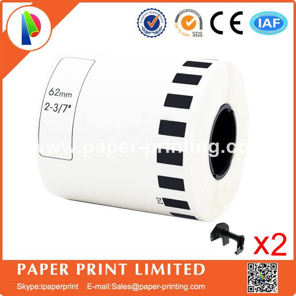 40 Refill Rolls  DK-22212 Label 62mm*15.24M Continuous Compatible for Brother Label Printer  DK-2212 DK22212