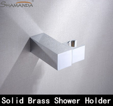 Free shipping solid brass hand shower  holder ,Rotate 360 degrees,hand shower pedestal rack shelf  base bracket-wholesale-25108