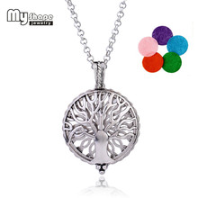 my shape Steampunk Style Magnet Health Care Essential Oil Perfume Diffuser Necklace Romantic Hollow Tree Of Life Locket Pendant