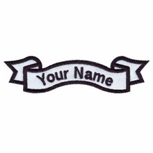 "Custom name 5"" wide*1.5"" high black patch/felt applique/iron on patches(China)"