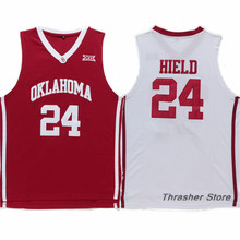 Buddy Hield #24 Oklahoma Red/White Retro Throwback Stitched Basketball Jersey Sewn Camisa Embroidery Logos