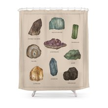 Gems And Minerals Shower Curtain Set Waterproof Bath Curtain For Bathroom With Non-slip Floor Mat(China)