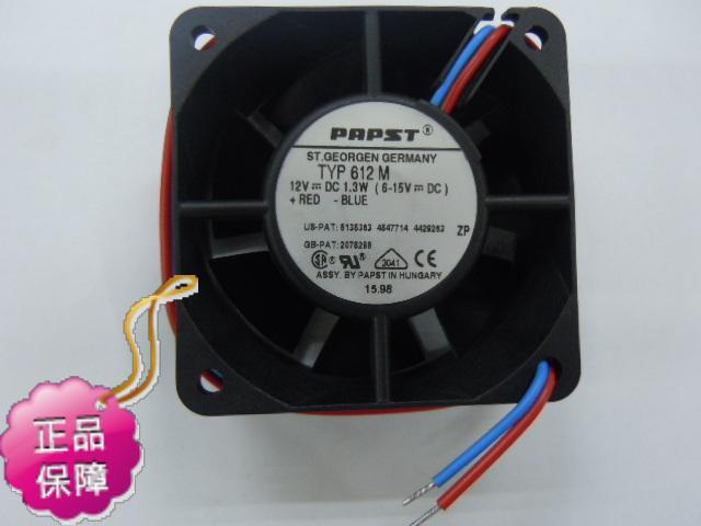 New original EBMPAPST 612M 60*25MM DC12V 0.11A precision axial cooling radiator fan<br>
