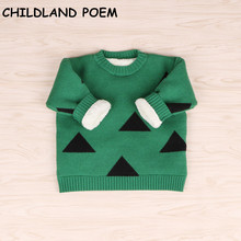 2017 winter baby sweater baby girls sweater thick fleece cotton baby boy sweaters Pullover fashion knitted baby cardigan