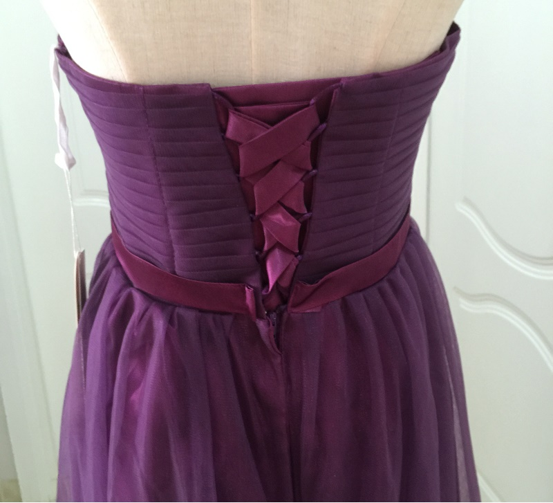 SOCCI Weekend Strapless Purple Long Evening Dress Charming Tulle Burgundy Evening Gown Formal Wedding Reception Vestido de Longo 20