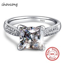 100% Solid 925 Silver Rings Fine Jewelry Big Sona CZ Diamant Engagement Rings for Women Ring Size 4 5 6 7 8 9 10(China)