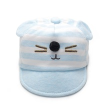 Cat Baby Cap With Ears Cute Newborn Baseball Cap Striped Cotton Infant Cap Boys Girls Sun Hat Spring Autumn Baby Boys Clothing