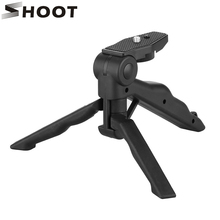 SHOOT Lightweight Tripod For GoPro Hero 5 4 3+ 3 SJCAM SJ4000 Tripod Stand Xiaomi Yi 4K DC DSLR SLR Camera(China)