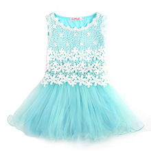 Summer Baby Girl Floral Dress Children Party Costume Tutu Birthday Dresses For Toddler Girl Kids Clothes Vestidos 3-10 Years