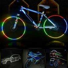 Buy 8m Reflective Tape Fluorescent MTB Bike Bicycle Cycling Motorcycle Stickers Strip Decal Tape Safety Waterproof for $1.37 in AliExpress store
