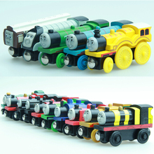 Thomas and His Friends -5PCS/LOT New Wooden Trains Toy Railway Magnetic Train Anime Model Car Great Kids Toys for Children Gifts