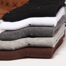 20pcs=10 pairs/lot Man's Cotton Socks, men sox soks high quality, small dots style