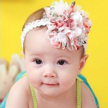 New Fashion Baby Lace Flower Headband Girl Infant Hair Weave Kids Casual Headbands Baby Accessories(China)