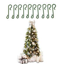 "2017 Merry Christmas 10pcs/lot Christmas Tree Green ""S"" Shaped Hanging Hooks Wire Xmas Decoration Ornaments Supplies 4cm SD239"