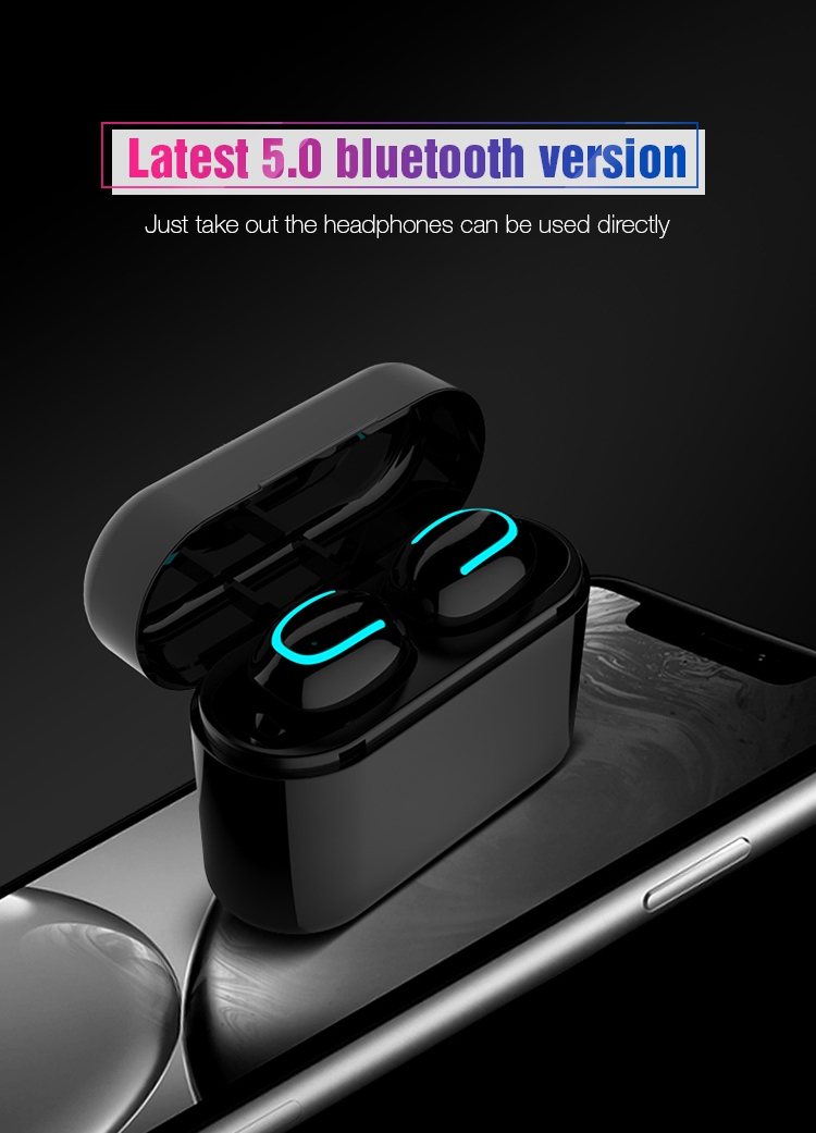 TOMKAS Wireless Headphones 5.0 Stereo Earbuds Bluetooth Earphone Headphones TWS Wireless Bluetooth Headset with Charging Box