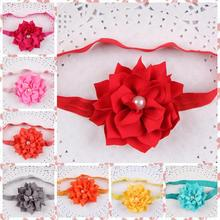 10pcs/lot wholesale new fashion Headband multi-cusp Lotus flower with Pearl trade shop supplies Hair headdress Accessories