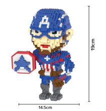 Bevle HC 9018 1484Pcs Marvel Captain America Steven DIY Magic Blocks Diamond Building Block Toys Compatible with LEPIN