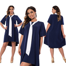 5XL 6XL Women Dress Big Sizes Casual Straight Dresses Fashion Summer Dress 2017 Plus Size Clothing Women Vestidos(China)