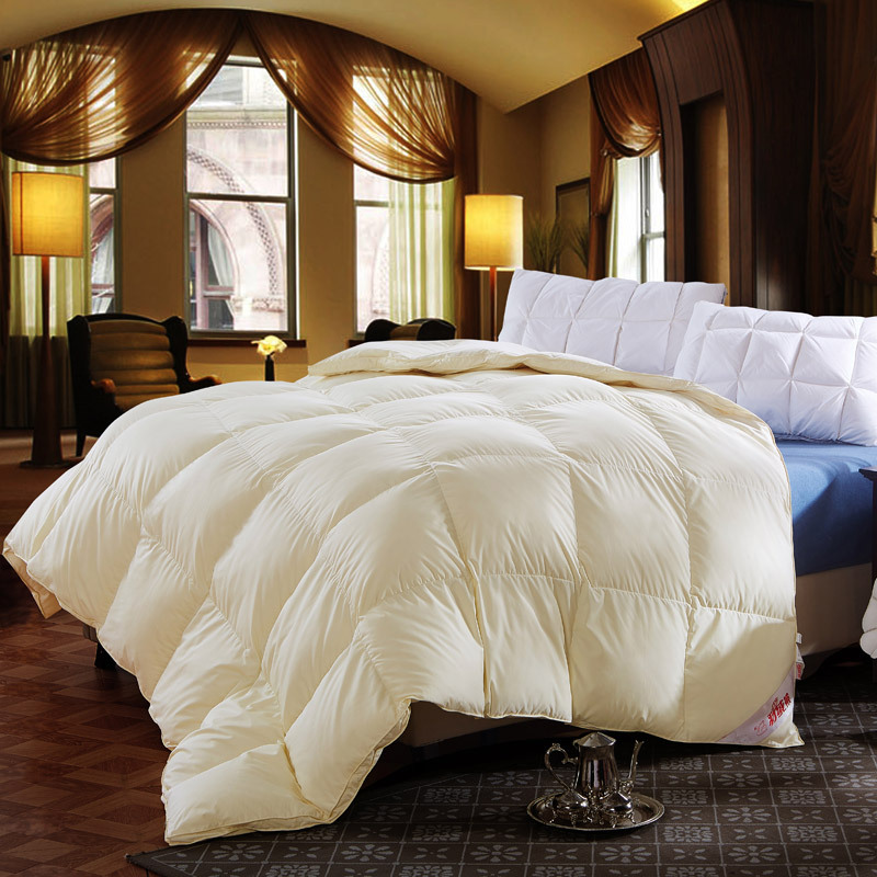 luxury grade a 500fp natural 90 duck down comforter twin queen king size quilt hypo allergenic bedroom pink white beige color