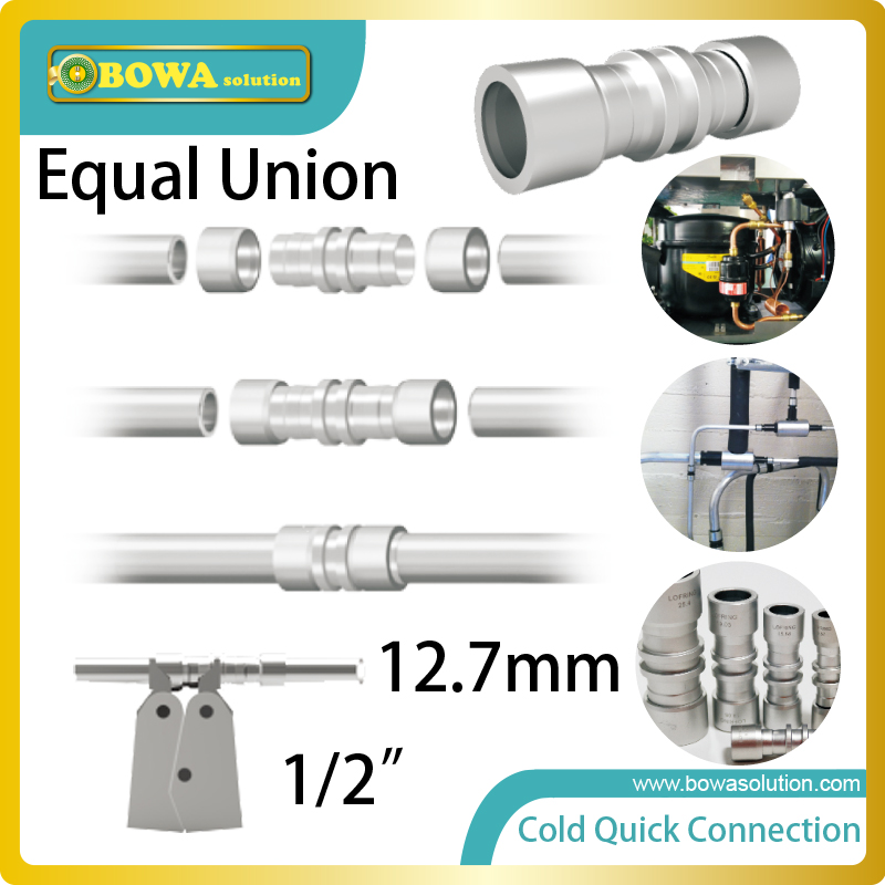 Diameter 12.7mm  free welding pipe union suitable for pipe connection of condensing unit for cold room<br>