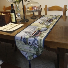 Fashion 33*180cm  table runner  Mediterranean  Vintage Style Starfish yacht Table flag Placemat Tea table cover towel