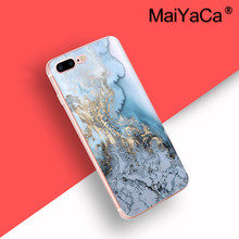 MaiYaCa On Sale Luxury Cool Black Gold Marble Stone Image Painted design Phone Accessories Case For iPhone 8 plus Case