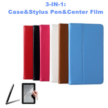 Free Film&Stylus for DEXP Ursus A370i JOY QUAD 7 Inch Tablet PU Leather Cover Case ePacket Russia Free Shipping(China)