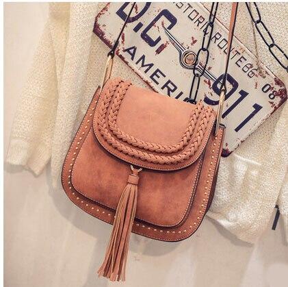 New Fashion Womens Tassel Marcie Bags Messenger Bags Super PU Leather Shoulder Bags Miranda Kerr Free Shipping<br><br>Aliexpress