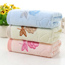 embroidered floral washcloth hand dry face bath towel soft rose flower towels home beauty accessories