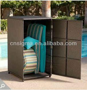 Swell 2014 All Weather Wicker Vertical Outdoor Furniture Wicker Deck Box Storage Cabinet Download Free Architecture Designs Fluibritishbridgeorg