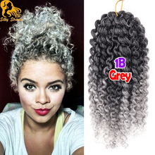 3Pcs/Lot Curly Crochet Hair 8 Inch Short kinky Curly Crochet Braid Hair Ombre 12 Colors Freetress Synthetic Curly Crochet Hair