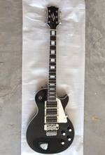 Wholesate Brand New Custom Electric Guitar 3 pick ups ebony fretboard with floyd rose tremolo ,mirrorpickguard  In Black  141119