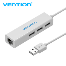 Vention USB To RJ45 Lan Network Ethernet Adapter 3 Port USB 2.0 Hub 10/100 Mbps Network Card LAN Adapter usb splitter For Mac OS(China)