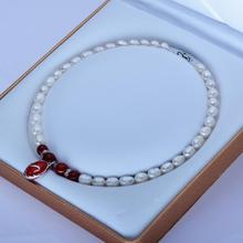 necklace+++923 8-9mm meters shape pearl necklace manufacturers wholesale direct sales(China)