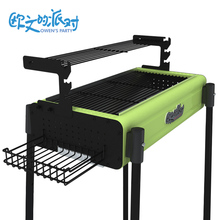 Barbecue rack outdoor portable folding  charcoal grill full set of home